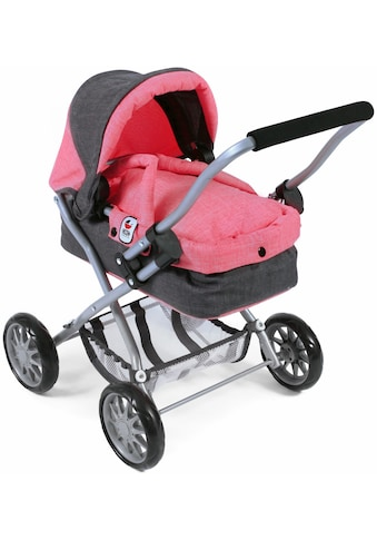 CHIC2000 Puppenwagen »Smarty anthrazit-pink«, mit herausnehmbarer Tragetasche kaufen