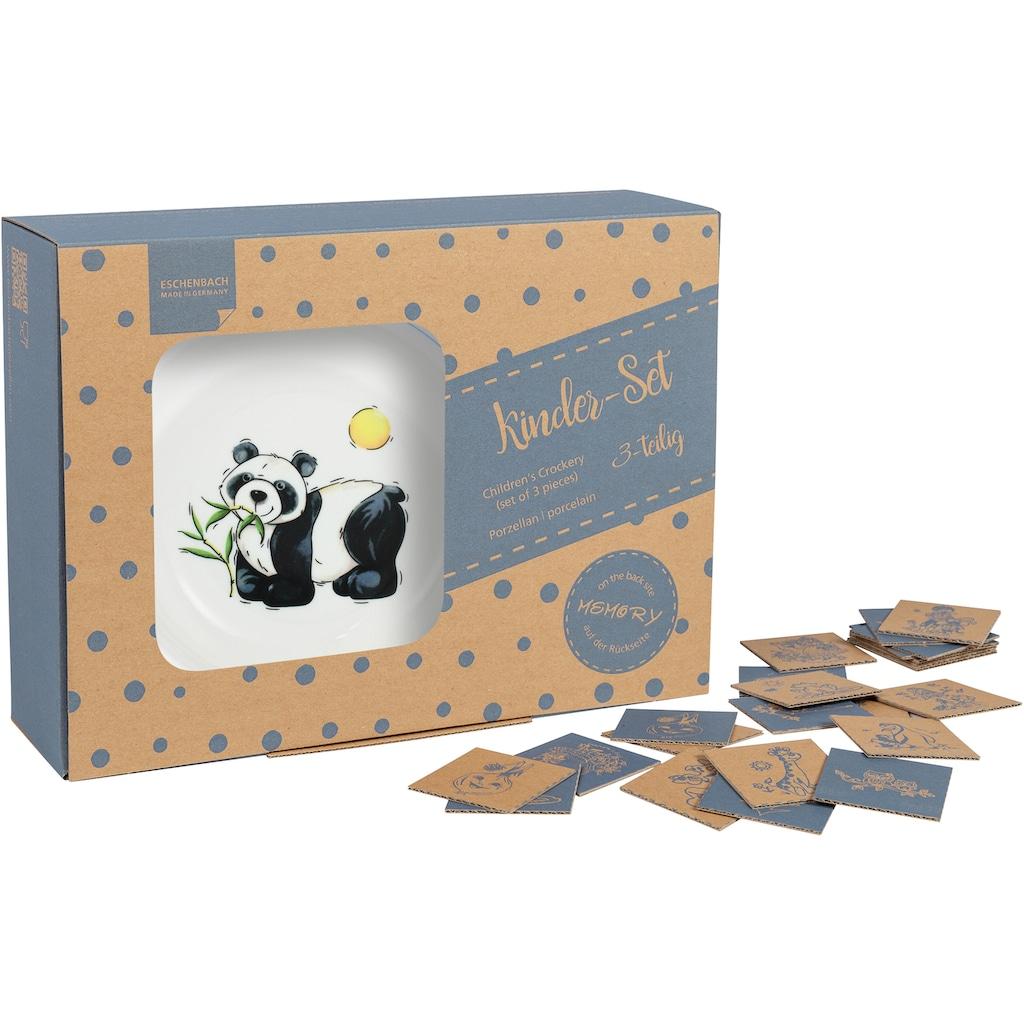 TRIPTIS® Thüringer Meisterporzellan Kindergeschirr-Set »Panda«, (Set, 3 tlg.), mit niedlichem Panda-Motiv, spülmaschinenfest