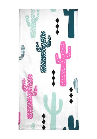 "Handtuch ""Cactus Magenta"", Juniqe kaufen"