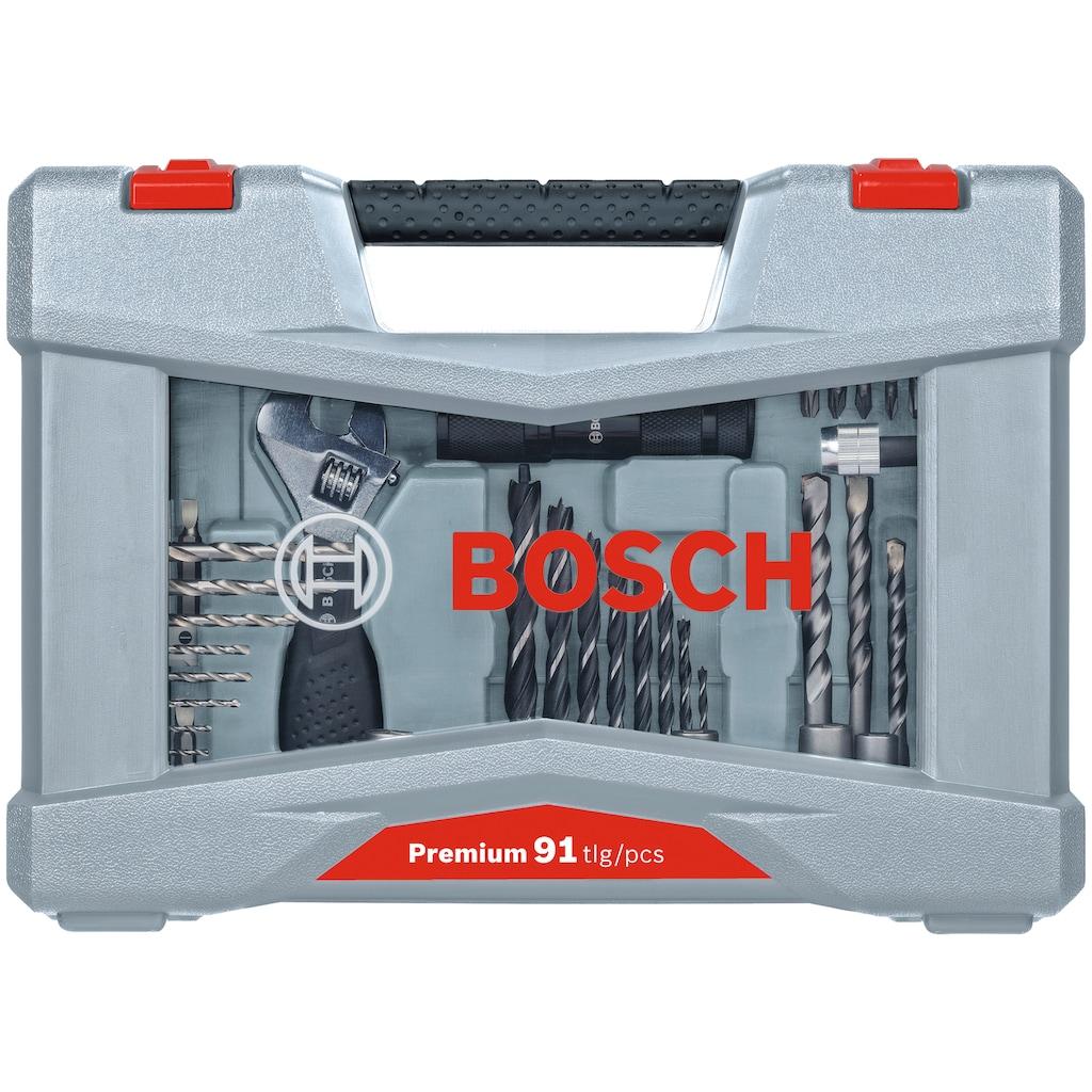 BOSCH Bohrersatz »Premium X-Line«, (91 tlg.), Bohrer- und Schrauber-Set mit Taschenlampe
