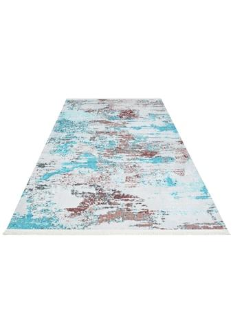 NOURISTAN Teppich »Keon«, rechteckig, 5 mm Höhe, Vintage mit Fransen, Wohnzimmer kaufen