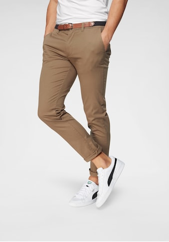 SELECTED HOMME Chinohose »SLIM - YARD WHITE PEPPER PANTS« (Set, 2 tlg., mit Gürtel) kaufen