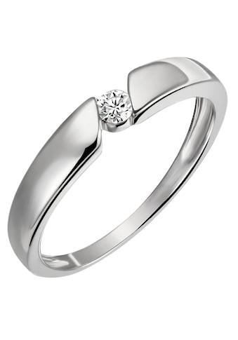 Firetti Diamantring »Solitär, Spannfassung, ca. 3,2 mm breit, Glanz, rhodiniert,... kaufen