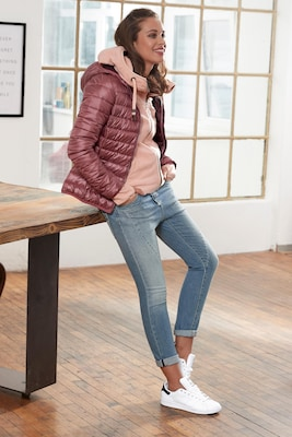 Steppjacke für Damen in Altrosa