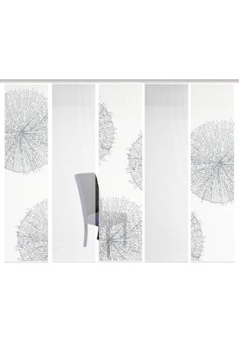 Vision S Schiebegardine »5ER SET CRESTON«, HxB: 260x60, Schiebevorhang 5er Set Digitaldruck kaufen