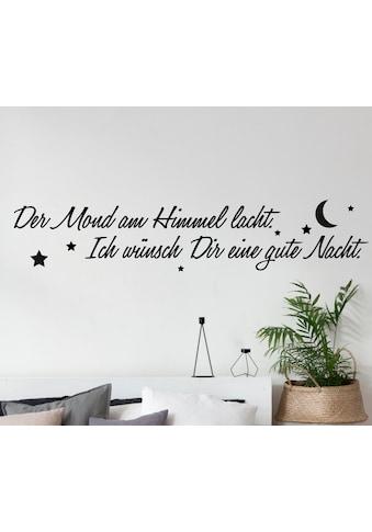 QUEENCE Wandtattoo »Der Mond am Himmel lacht...«, 120 x 30 cm kaufen