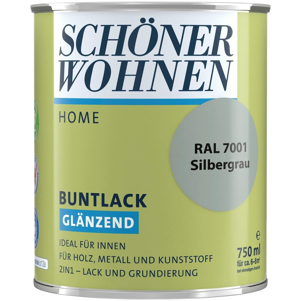 SCHÖNER WOHNEN-Kollektion Lack »Home Buntlack«, glänzend, 750 ml, silbergrau RAL 7001