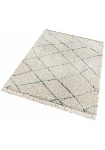 freundin Home Collection Hochflor-Teppich »Primrose«, rechteckig, 35 mm Höhe, Allover... kaufen