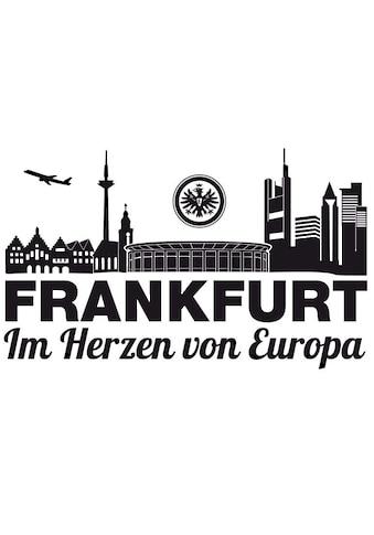 Wall-Art Wandtattoo »Fußball Eintracht Frankfurt Skyline« kaufen