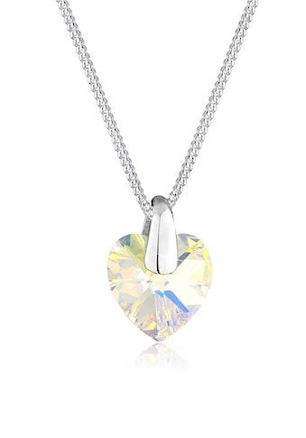 Elli Collierkettchen »Herz Liebe Kristalle 925 Silber Lié« kaufen