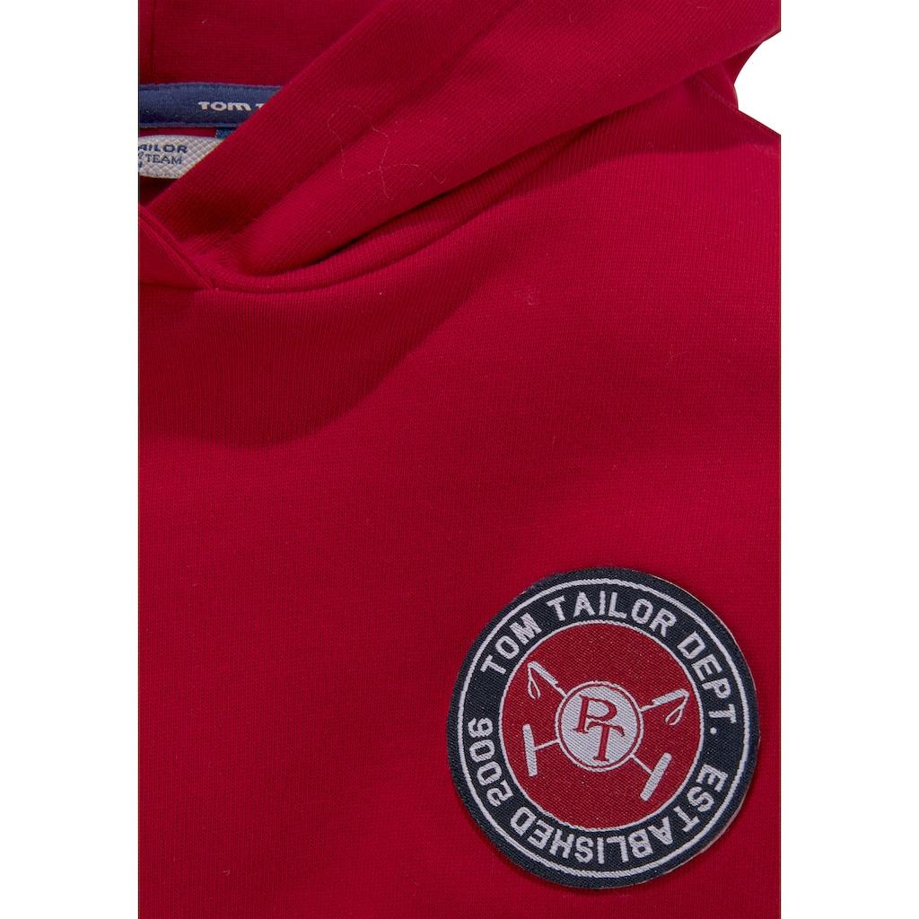 TOM TAILOR Polo Team Kapuzensweatshirt, mit Logo Badge