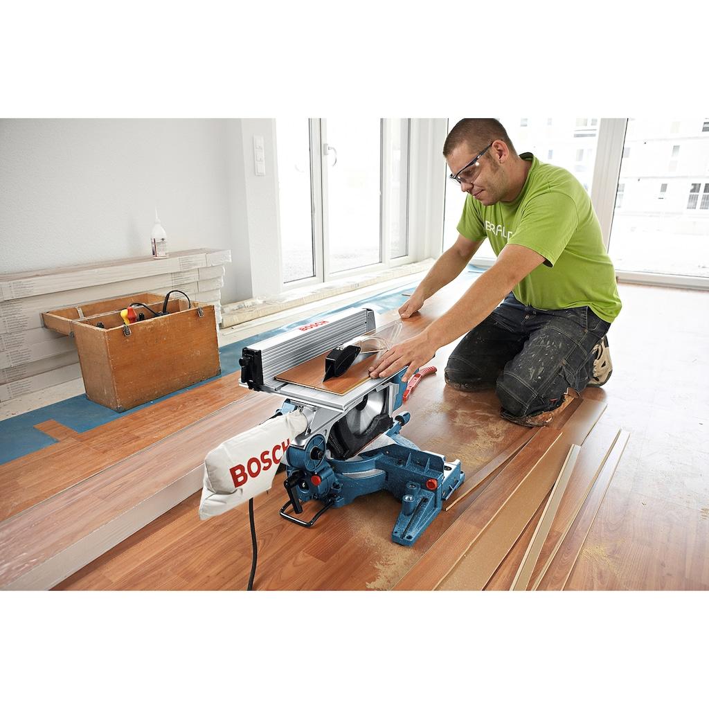 Bosch Professional Kapp- und Gehrungssäge »GTM 12 JL«, kombiniert mit Tischkreissäge