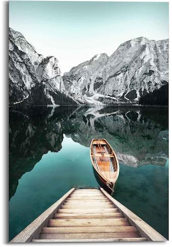 Reinders! Wandbild »Wandbild Berg See Rocky Mountains - Glacier - Winter«,... kaufen