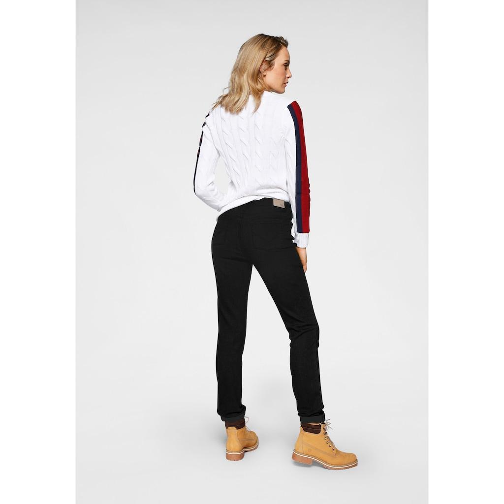 H.I.S Slim-fit-Jeans »High-Waist«, Nachhaltige, wassersparende Produktion durch OZON WASH