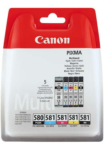 Canon Tintenpatrone »PGI-580/CLI-581 BK/CMYK Multi Pack 5-farbig« kaufen