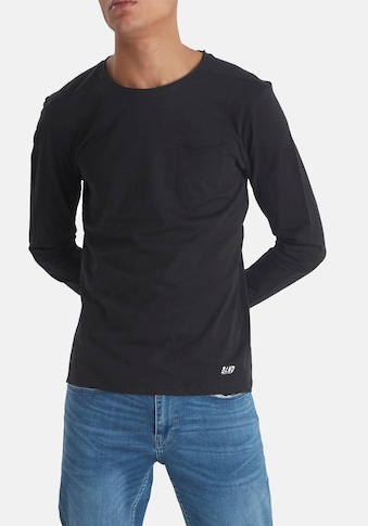 Blend Langarmshirt, aus Slubyarn kaufen
