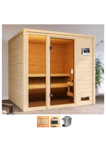 Karibu Sauna »Jackie«, 9-kW-Bio-Ofen mit ext. Steuerung kaufen