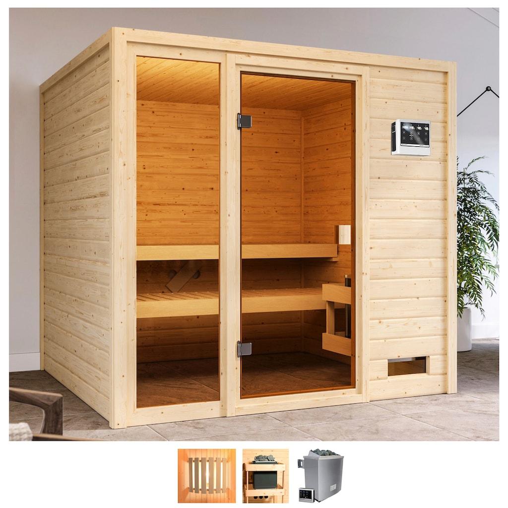 Karibu Sauna »Jackie«, 9-kW-Bio-Ofen mit ext. Steuerung