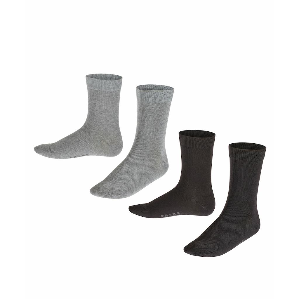FALKE Socken »Happy 2-Pack«, (2 Paar), mit Kompakt-Baumwolle