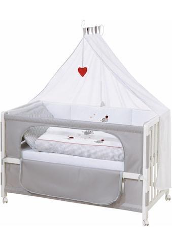 roba® Babybett »Room bed - Dekor Adam und Eule«, als Beistell-, Kinder- und Juniorbett... kaufen
