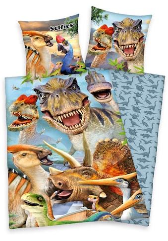 Kinderbettwäsche »Selfies Dinosaurier«, kaufen