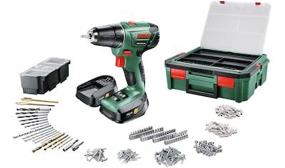 BOSCH Akkuschrauber »PSR 1440 LI - 2«, inkl. 2x 1,5Ah Akkus + Systembox + 241 - tlg. Zubehör - Set kaufen