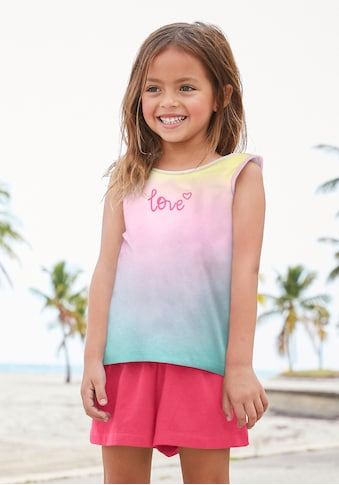 KIDSWORLD Top & Shorts, in buntem Farbverlauf kaufen