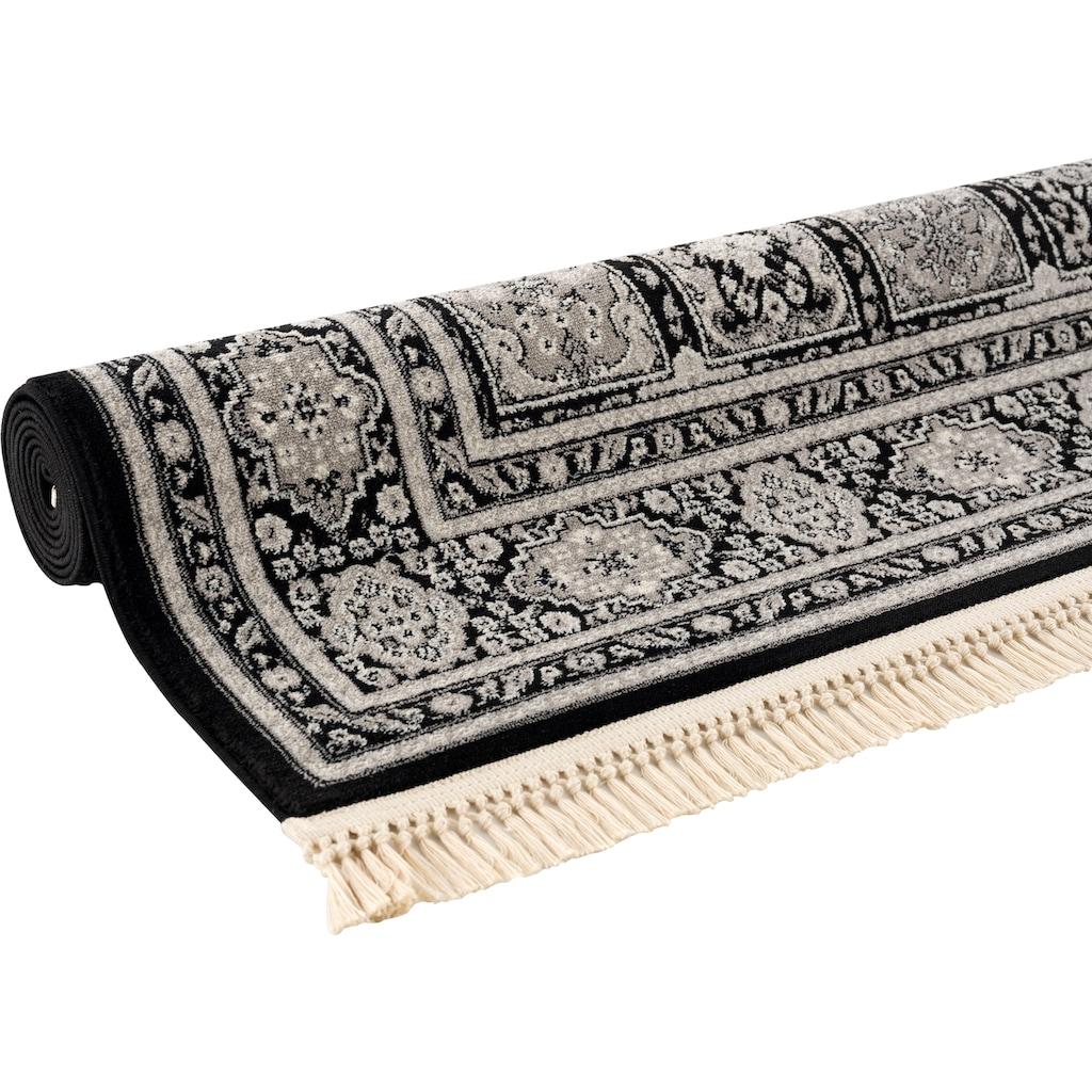 DELAVITA Teppich »Tiara«, rechteckig, 10 mm Höhe, Mit Fransen, Wohnzimmer