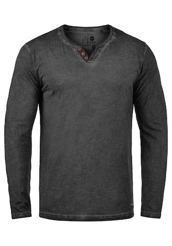 Solid Langarmshirt »Tinox«, Langarmshirt mit V-Ausschnitt kaufen