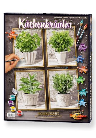 Schipper Malen nach Zahlen »Meisterklasse Quattro - Küchenkräuter«, Made in Germany kaufen