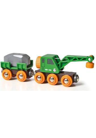 """BRIO® Spielzeug - Eisenbahn """"BRIO® WORLD Grüner Kranwagen mit Anhänger und Fracht"""" kaufen"""