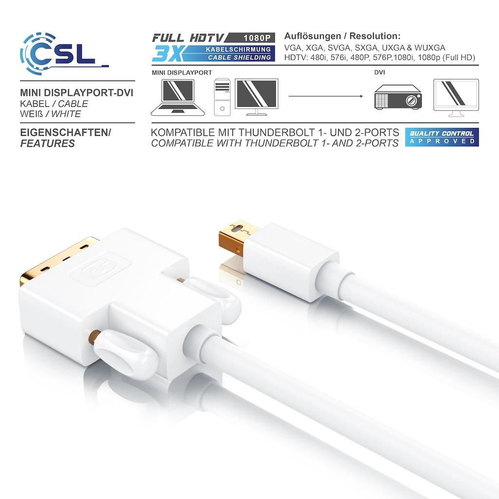 CSL Mini Displayport (miniDP) auf DVI Monitor Kabel