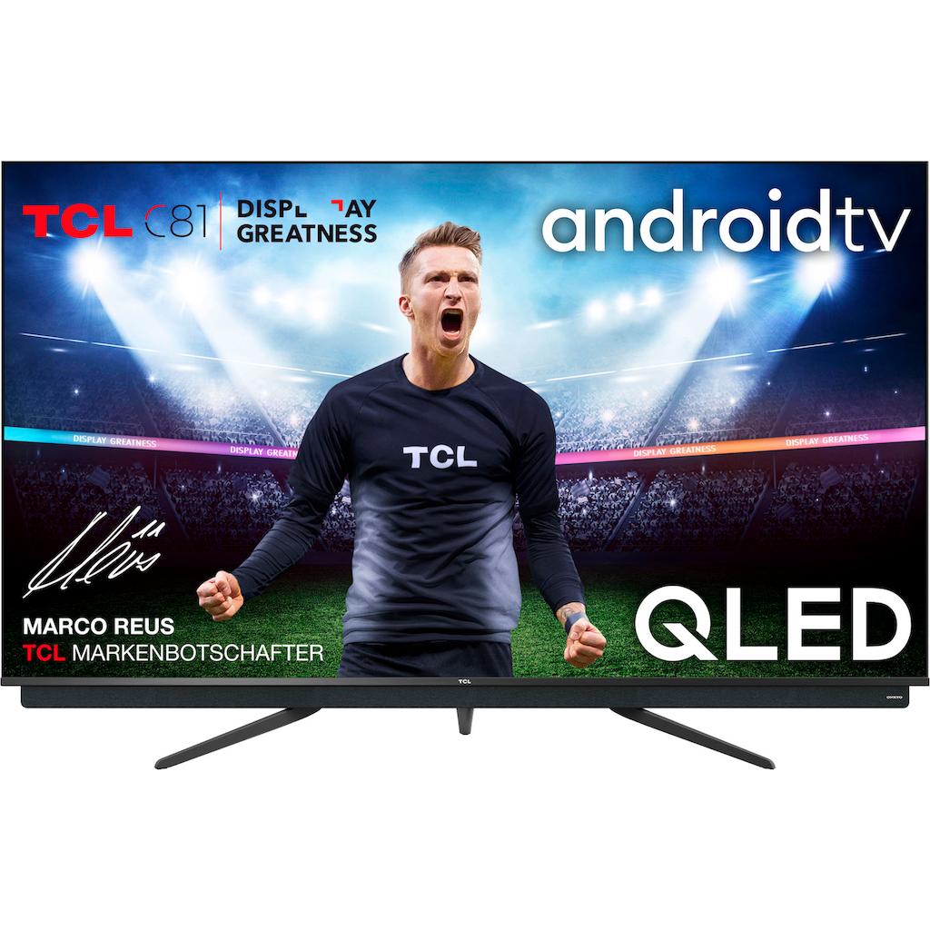 "TCL QLED-Fernseher »55C815X1«, 139 cm/55 "", 4K Ultra HD, Smart-TV, integrierter ONKYO Soundbar-Android TV Sprachfernbedienung"