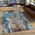 Paco Home Teppich »Natura 850«, rechteckig, 18 mm Höhe, Kurzflor mit kunstvollem Holzplatten Design, Wohnzimmer