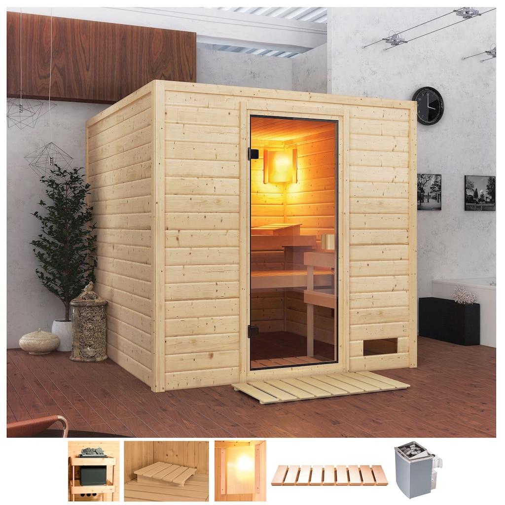 Karibu Sauna »Jacky«, 4,5-kW-Ofen mit int. Steuerung