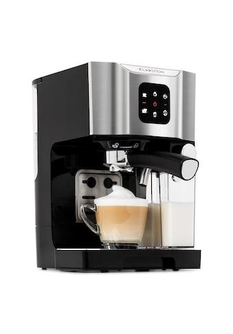 Klarstein Kaffeemaschine 1450 W 20 Bar Milchschäumer 3in1 grau »BellaVita« kaufen