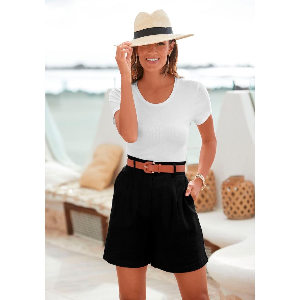LASCANA Shorts, mit lässigem High-waist-Bund
