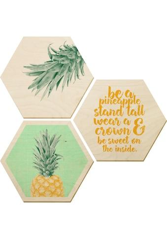 Wall-Art Bilder-Collage »Ananas«, (Set) kaufen
