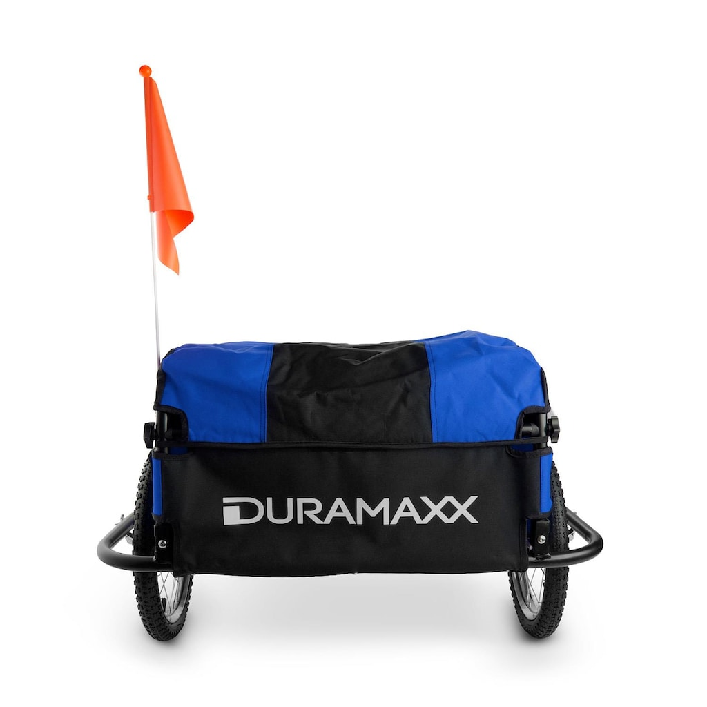Duramaxx Mountee Fahrradanhänger Lastenanhänger 130l 60kg Stahlrohr blau-