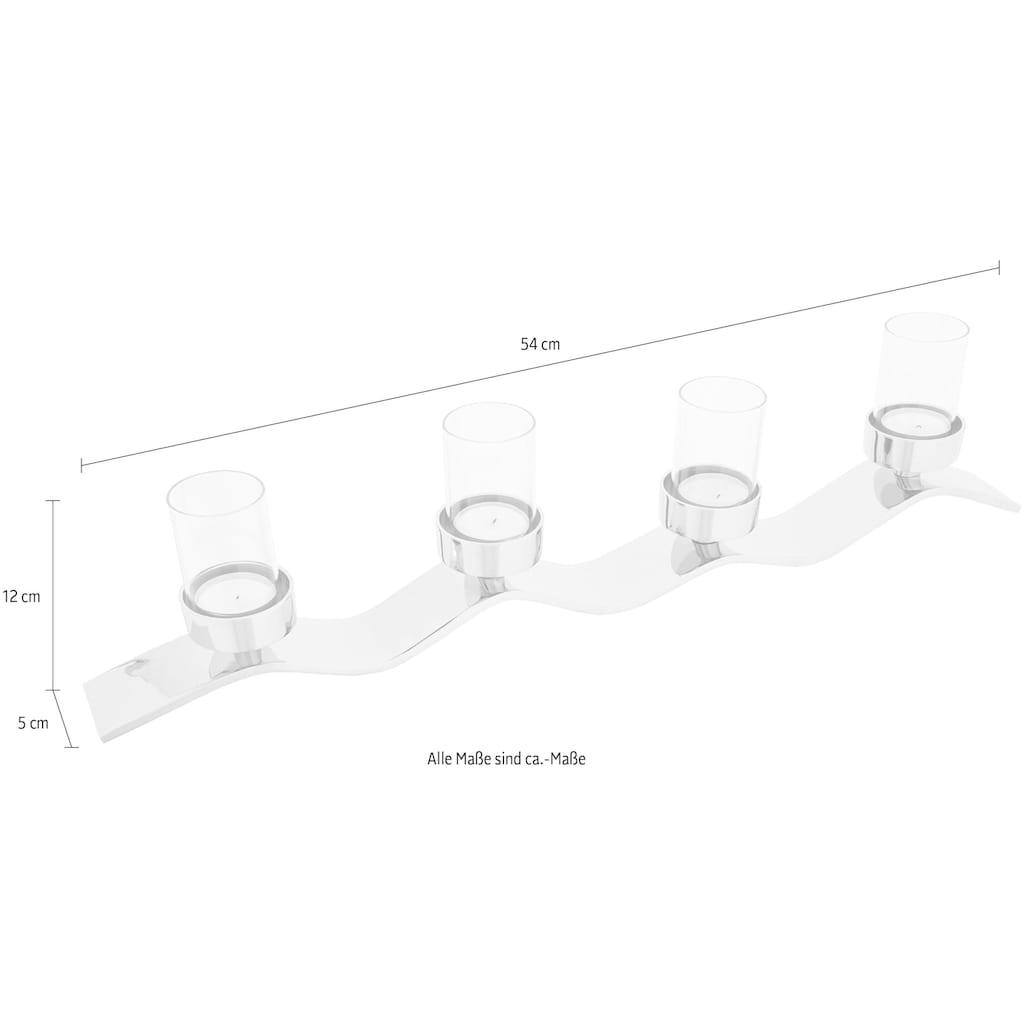 Fink Kerzenständer »WAVE«, aufwendige Handarbeit, für 4 Kerzen