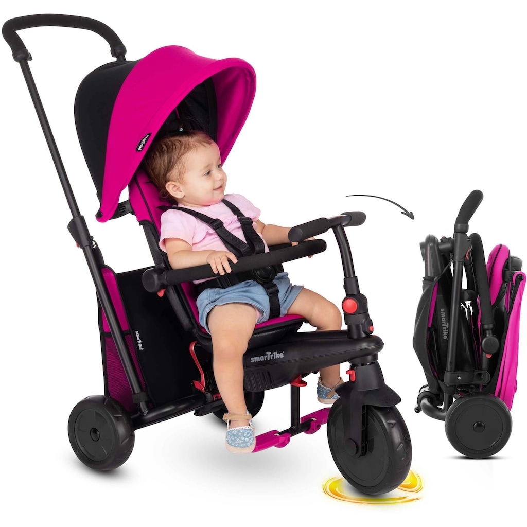 smarTrike® Dreirad »smarTfold 400S, rosa/schwarz«