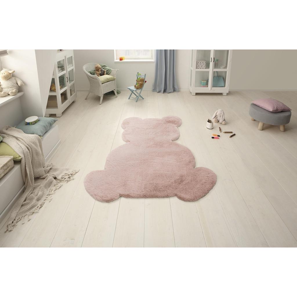 Lüttenhütt Kinderteppich »Teddy«, Motivform, 25 mm Höhe, Kaninchenfell-Haptik