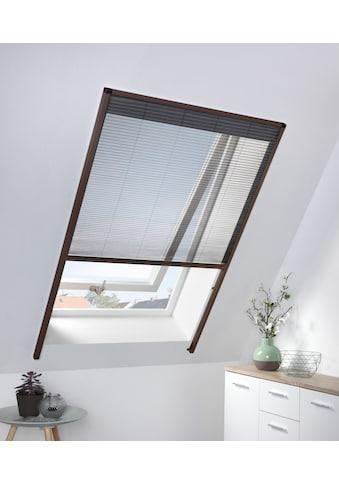 hecht international Insektenschutz-Dachfenster-Rollo, braun/anthrazit, BxH: 110x160 cm kaufen