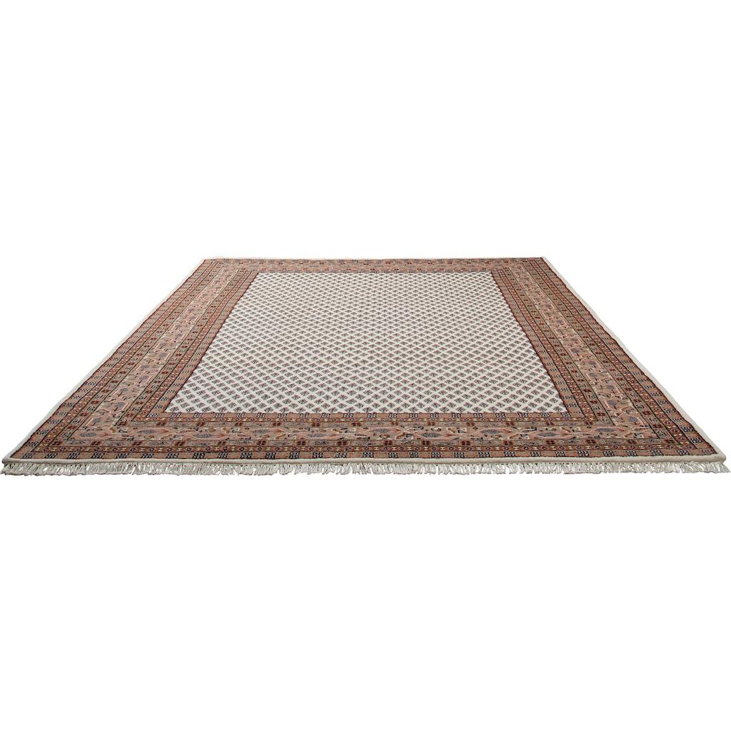 THEKO Orientteppich »Chandi Mir«, rechteckig, 12 mm Höhe, reine Wolle, handgeknüpft, mit Fransen, Wohnzimmer