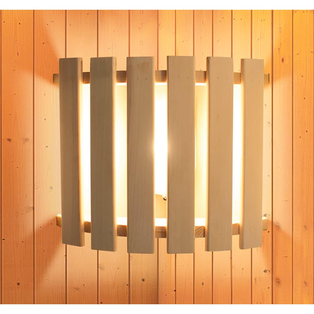 Karibu Sauna »Henrika«, 9-kW-Ofen mit ext. Steuerung
