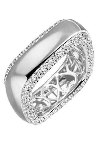 Firetti Silberring »in eckiger Form, innen mit Herzaussparung, rhodiniert«, mit Zirkonia kaufen