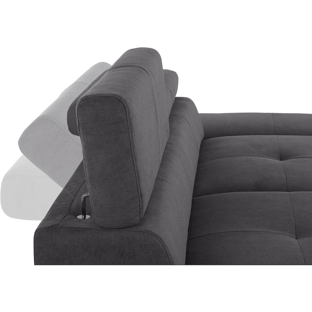 COTTA 2,5-Sitzer, inklusive Kopf- und Armteilverstellung