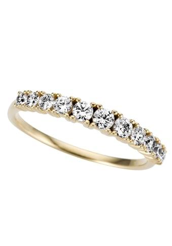 Firetti Goldring »glamourös, glänzend, massiv, rund«, mit Zirkonia kaufen