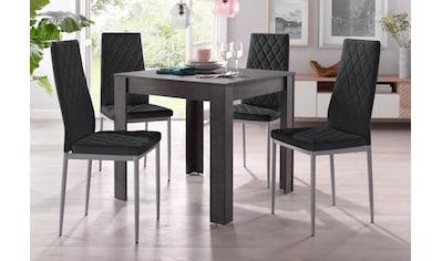 my home Essgruppe »Lynn + Brooke«, (Set, 5 tlg.), mit Tisch in schieferfarben, Breite... kaufen