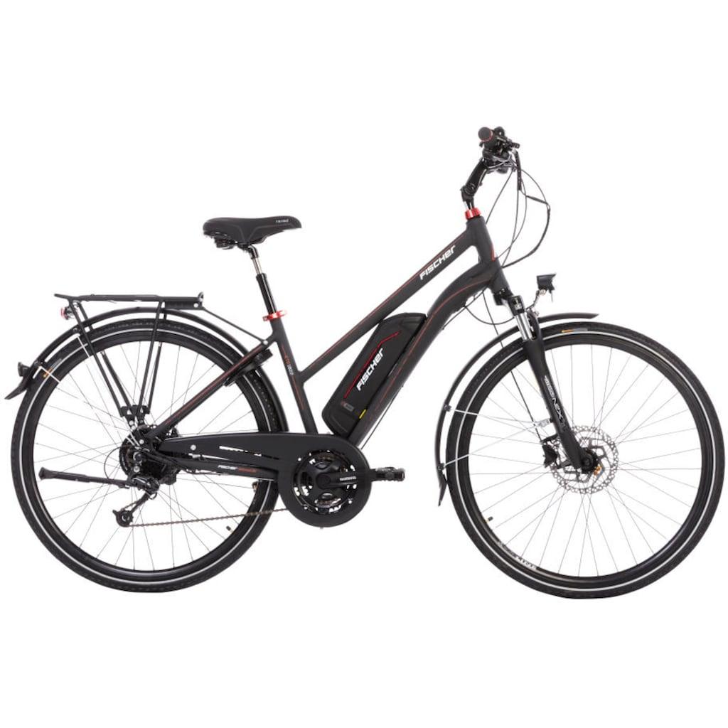 FISCHER Fahrräder E-Bike »ETD 1822«, 24 Gang, Shimano, Deore, Heckmotor 250 W